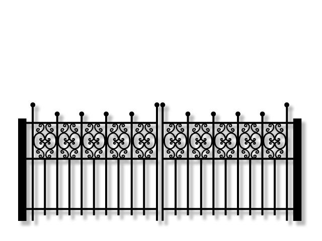 Kamrar KJ42 driveway swing gate