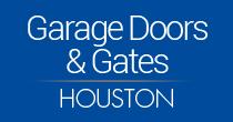 Houston garage door and gate logo