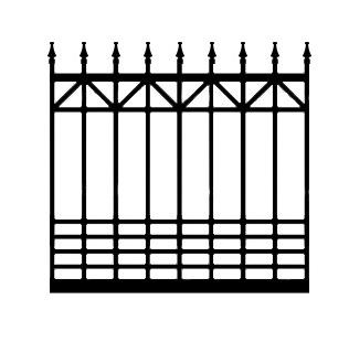 Marietta ADBX Driveway Iron Gate