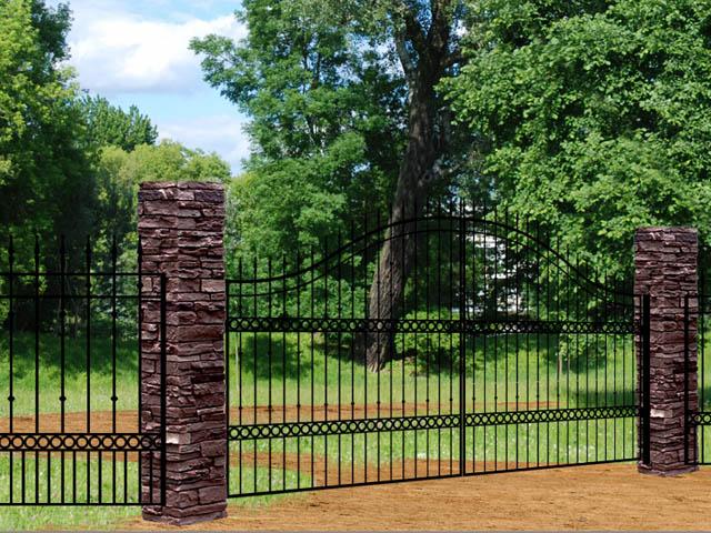 Adona KA33 iron driveway gate