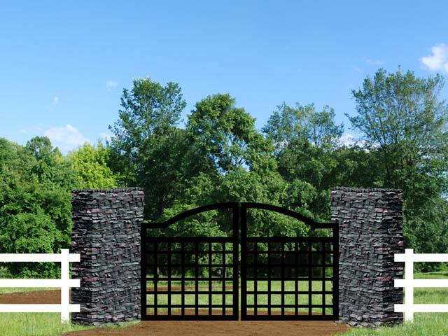 Drexel N6FY Driveway Iron Gate
