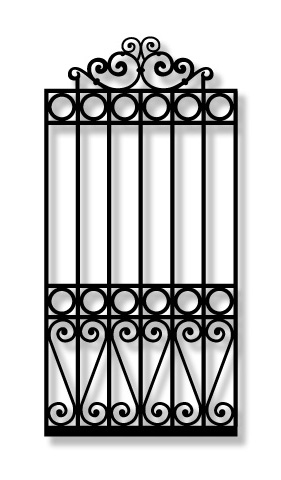 mayfiar garden iron gate