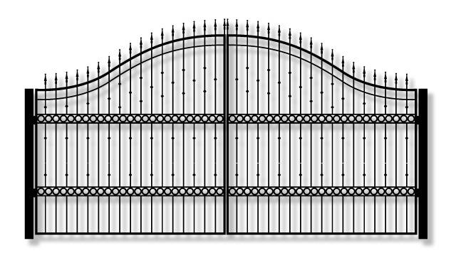 Adona KA33 Driveway Iron swing Gate