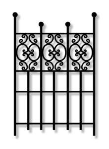 Kamrar KJ42 garden Iron Gate