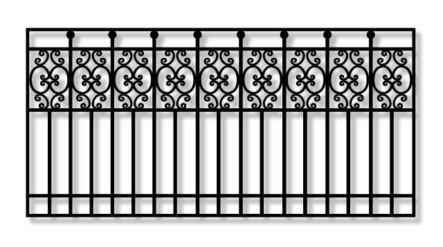 Kamrar KJ42 Driveway Iron slide Gate