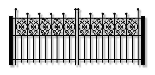 Kamrar KJ42 Driveway Iron swing Gate