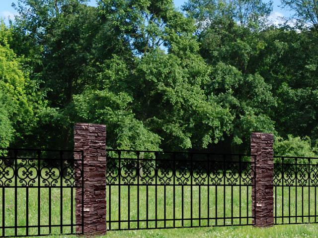Kamrar KJ42 iron driveway gate