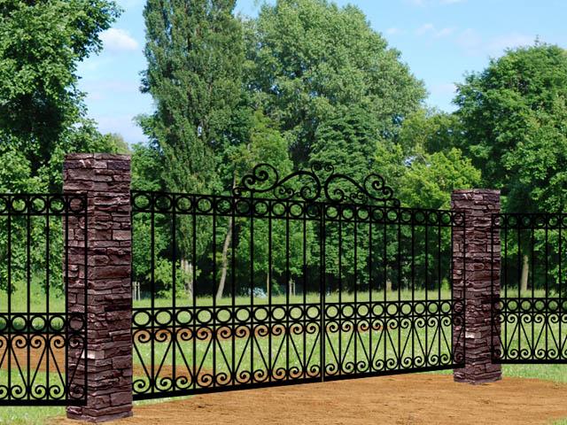 Mayfair FC49 iron driveway gate