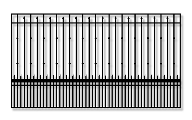 Whitmire PX9Y Driveway Iron slide Gate
