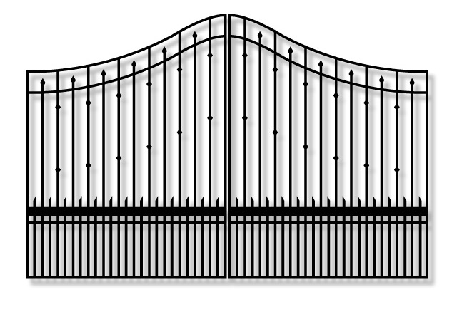 Whitmire PX9Y Driveway Iron swing Gate