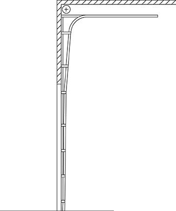 Insulated Ribbed Steel Door Series Model 3221 Houston