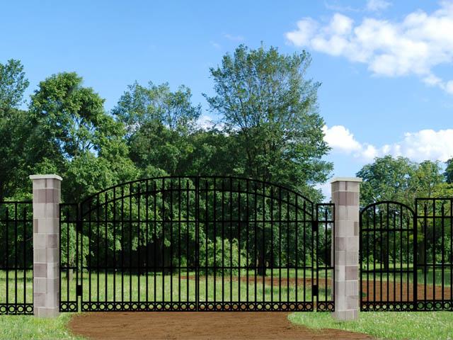 Old Monroe FX2B Driveway Iron Gate