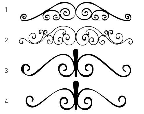 gate top header ornament decoration for gates